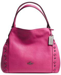 COACH EDIE SHOULDER BAG 31 IN FLORAL RIVETS LEATHER - Handbags & Accessories - Macy's