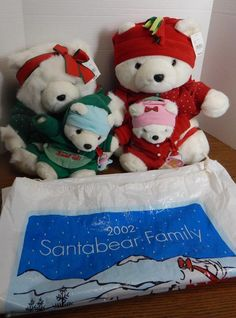 2002 DHMF Target Mr. & Mrs. Santa Bear & Babies Baby Twins Berry & Belle Family #DaytonHudson