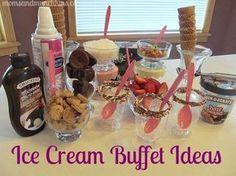 Ice Cream Buffet - Delicious Moms Night In Idea