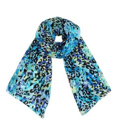 Women's Belize Animal Print Blue Multicolor Scarf Fashion Shawl at Amazon Women's Clothing store: Fashion Scarves