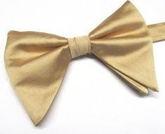 c3666d2dc49d Gold Butterfly Bow Tie Tom Ford Inspired Gold Tear Drop Long Pretied Bow Tie  With Matching Pocket Square Option