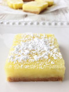 Skinny Lemon Bars — The Skinny Fork. 4 Points Plus @Maria Canavello ...