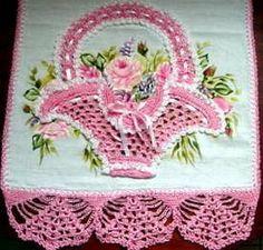 Crochet Flower Tutorial, Crochet Lace Edging, Crochet Borders, Thread Crochet, Love Crochet, Filet Crochet, Beautiful Crochet, Crochet Doilies, Crochet Yarn