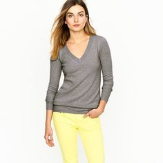Another example of bright + neutral - I love gray and yellow!
