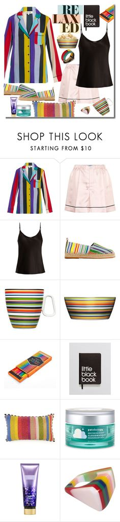 """Loungewear"" by marionmeyer ❤ liked on Polyvore featuring Diane Von Furstenberg, Prada, La Perla, Loewe, iittala, FOSSIL, Dinks, MacKenzie-Childs, Patchology and Victoria's Secret"