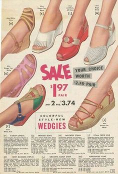 Vintage Mode, Vintage Ladies, Retro Vintage, Vintage Style, Vintage Outfits, Vintage Shoes, Vintage Wardrobe, New Style Shoes, 1940s Shoes