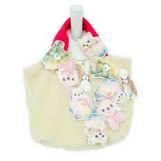 あちゃちゅむbag. vintage soft toys in pastel shades. So cute!