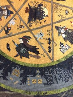 close up, Halloween quilt spotted at the 2013 Tokyo International Great Quilt Festival, photo by Karin Hellaby at Quilters Haven (UK)
