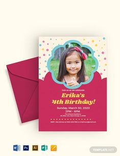 Simple Kid's Birthday Invitation Template