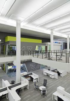 Office Tour: Inside NPR's Washington DC Headquarters / Hickok Cole Architects Corporate Interior Design, Corporate Interiors, Commercial Interior Design, Commercial Interiors, Office Interiors, Fun Office Design, Workspace Design, Office Wall Graphics, Commercial Office Space