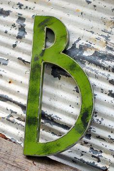 #rustic #green #letter #B