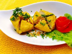 Crispy garlic tofu                                           Check us out at www.quickeatdelivery.com online catering jakarta