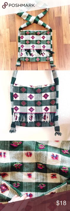 FINAL PRICE✨Peruvian Handwoven Tote Bag Beautiful, bohemian style woven bag. Per the style and fabric, the craftsmanship is either from Peru, Bolivia or Guatemala. I love this bag with jeans & a white tee, but it's a great item to add a little flare to any outfit! In like new condition... I doubt it's ever been used ❤️ Bundle & save! Make me an offer I can't refuse... 😜 Happy Poshing, lovelies! Vintage Retro Urban Outfitters Anthropologie Anna Sui Hipster Boho Vintage Bags Crossbody Bags