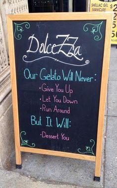 Gelato... Rick Astley style!!