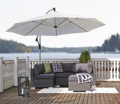 terraza con estilo muebles moderno  de color gris