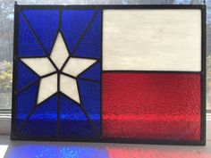 Your place to buy and sell all things handmade Glass Rocks, Red Glass, Texas Flags, Texas Star, Lone Star State, Glass Artwork, Window Art, Stained Glass Windows, Glass Panels