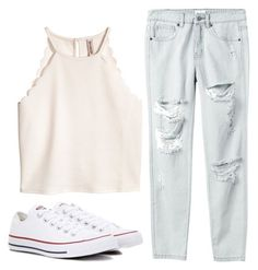 """Untitled #172"" by brodriguez8104 on Polyvore featuring Converse and RVCA"