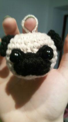 Crochet pug.