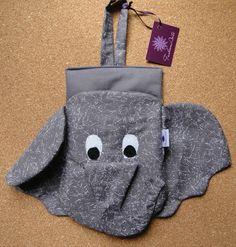 Porta-lixo para carro - elefantinho acolchoado - FashionArts - Artesanatos da Moda