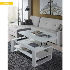 Table basse relevable Gloria pas cher prix Table Basse 431.00 € TTC au lieu de 479 €. #Tablebasserelevable #Tablebassepascher #TableBasse #Camif #ventespascher #meuble Coffee Table With Storage, Coffee Table Design, Farmers Furniture, The Room Place, Card Table And Chairs, Small Kitchen Tables, Dinette Sets, Space Saving Furniture, Center Table