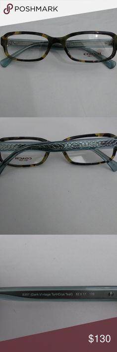 6484493290 New Authentic COACH Eyeglass Frames New without box. Demo lenses  never had  RX in