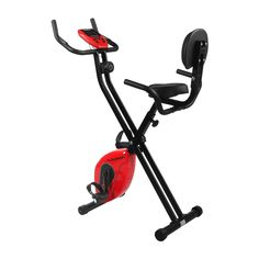Floureon Magnetic Upright Exercise Bike Folding Fitness with LCD Monitor, Pulse Sensors, 265LBS Capacity, Padded Seat, Foam Wrapped Handle Bars (HSM-B131B). Warranty: All Floureon magnetic bikes have 1 year warranty, 100% satisfaction and zero hassle returns guaranteed. Levels: 8 levels magnetic tension control system with a durable 3.3lbs solid flywheel, allows to adjust work out via a knob. Comfortable design padded back and seat cushion with PE foam wrapped handle bars make for…