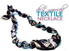 Make an Upcycled Fabric Necklace as a Last-Minute Gift (DIY Tutorial)