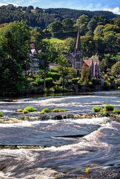 River Dee - Llangollen, Wales 2001 Holiday with mum, view from our window