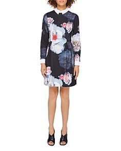 TED BAKER KALEESA CHELSEA FLOWER COLLARED DRESS. #tedbaker #cloth #
