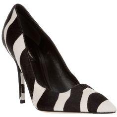 DOLCE & GABBANA Zebra shoe ($275) ❤ liked on Polyvore