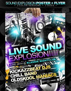 Sound Explosion Poster + Flyer // 3 Color Versions