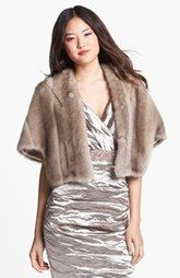 Eliza J Faux Fur Capelet available at Nordstrom.