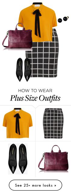 """plus size work, work, work!!!"" by kristie-payne on Polyvore featuring Zizzi, Lord & Taylor, Latico and Yves Saint Laurent"