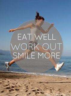 Come bien, trabaja duro, sonríe más