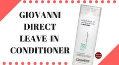 Giovanni Direct Leave In Conditioner is enriched with certified organic botanicals. It contains no animal by-products and is cruelty free. It promises to restore strength, luster and nourishment to damaged hair while imparting shine and repairing split ends.