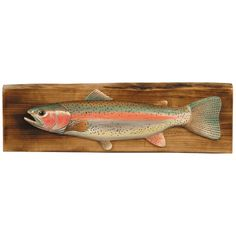 Rainbow Trout Wood Wall Hanging