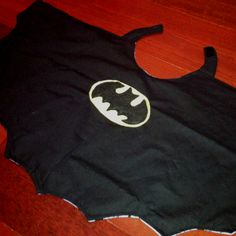 My batman cape... first sewing project in 13 years. Not the greatest, but I pulled it off :)