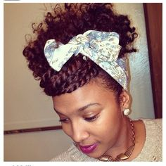 natural hair ideas for spring - how to wear a scarf updo - natural hair blog