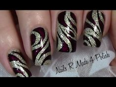 Elegant Abstraktes Nageldesign selber malen / Nail art Design tutorial /...