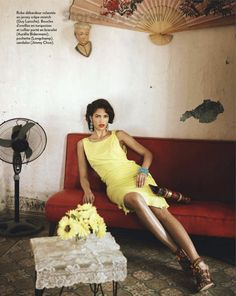 mambo show: cris urena by thierry le goues for marie claire france march 2012