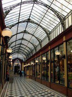 Passages et galeries couvertes à Paris. link shows many covered passageways in Paris. Great for a rainy day!