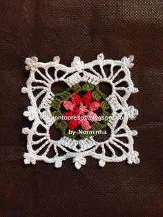 Crochet - A New Square . Crochet Square Patterns, Crochet Blocks, Crochet Squares, Crochet Granny, Irish Crochet, Crochet Motif, Crochet Doilies, Crochet Flowers, Hand Crochet