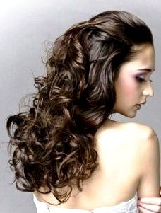 Bride's half up long down curls wedding hair ideas Toni Kami Wedding Hairstyles ♥ ❶