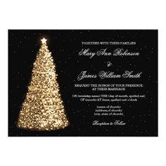 10c0e3e3820c Elegant Christmas Wedding Sparkle Tree Gold Card Wedding Ideas