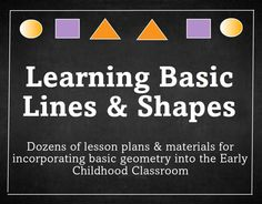 Purchase Basic Lines & Shapes Lesson Plan for Preschool