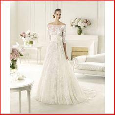 YZ New Designed Elegant A-line Sleeves Lace Wedding DRESS from YZ Fashion Bridal on Wanelo