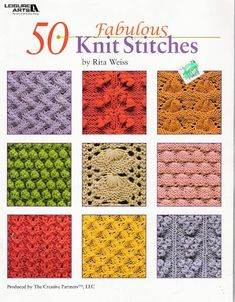 List All Knitting Stitches : List of free stitch patterns using only knit and purl stitches for knitters o...