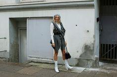 Gorgeous Hanna Stefansson wearing our Merino Rib Dress