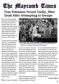 trial of tom robinson essay Essays and criticism on harper lee's to kill a mockingbird - to kill a mockingbird, harper lee the unjust trial of tom robinson.