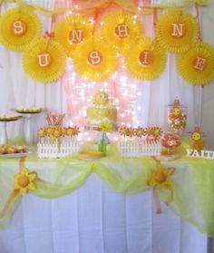 """Sunshine party  --I would do this with baby's name instead of the word """"sunshine."""""""